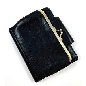 Vintage black cowhide leather wallet